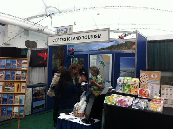Trade Show Booth Vancouver : Cortes island booth at vancouver outdoor travel trade show